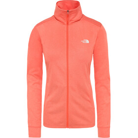 The North Face Quest Couche intermédiaire zip complet Femme, radiant orange white heather